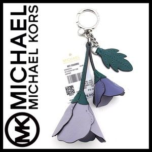 Michael Kors 3D Key Fob Bag Charm Leather Lilac
